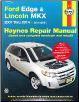 2007 - 2014 Ford Edge & Lincoln MKX Haynes Repair Manual (SKU: 162092224X)