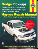 2009 - 2016 Dodge Ram Full Size Pick-Ups - 2WD & 4WD V6, V8 Gas & Cummins Turbo-Diesel Engines Haynes Repair Manual (SKU: 1620922487)