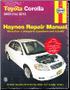 2003 - 2013 Toyota Corolla Haynes Repair Manual (SKU: 1620922495)