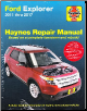 2011 - 2017 Ford Explorer Haynes Repair Manual (SKU: 1620922851)