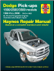 1994 - 2008 Dodge RAM Full Size Pick-Ups: 2 & 4WD, V6, V8, V10 & Cummins Turbo Diesel Haynes Repair Manual (SKU: 1620922878)