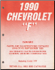 1990 Chevrolet F-Body (Camaro) Parts and Illustrations Catalog  (SKU: 1990-17F)