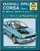 1993 - 2000 Vauxhall, Opel Corsa Diesel Haynes Repair Manual (SKU: 1844250873)