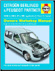 1996 - 2005 Citroen Berlingo & Peugeot Partner Petrol & Diesel Haynes Repair Manual (SKU: 1844252817)