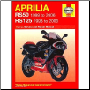 1993 - 2006 Aprilia RS125 & 1999 - 2006 RS50 Haynes Repair Manual (SKU: 1844252981)