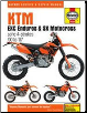 2000 - 2007 KTM EXC Enduros & SX Motocross Haynes Motorcycle Repair Manual (SKU: 9780857339591)