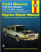 1975 - 1987 Ford & Mercury Full Size Cars, Haynes Repair Manual (SKU: 1850104611)