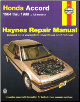 1984 - 1989 Honda Accord Haynes Repair Manual (SKU: 1850106150)
