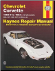 1968 - 1982 Chevrolet Corvette Haynes Repair Manual (SKU: 1850107238)