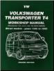 1996 - 1999 Volkswagen Transporter T4 Workshop Manual - Diesel Models (SKU: 1855206803)
