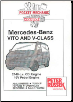 2000 - 2003 Mercedes-Benz Vito and V-Class 2148c.c. CDI Diesel & 16V Petrol Engine, Russek Repair Manual (SKU: 1898780528)