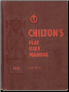 1950 - 1961 Chilton's Flat Rate and Parts Manual (SKU: 1961FLATRATE)