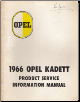 1966 Opel Kadett Product Service Information Manual (SKU: 1966Opel-PSI)