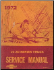 1972 Chevrolet 10-30 Series Truck Chassis Factory Service Manual (SKU: ST33072)