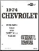 1974 Chevrolet Passenger Cars & Light Duty Trucks Overhaul Manual (SKU: ST33374)