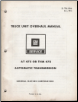 1981 GM Truck Unit Overhaul Manual - Automatic Transmission (SKU: X7B20A)