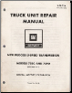 1978 GM Truck 7550-7590 5 Speed Transmission Unit Repair Manual (SKU: X7B23A)