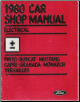 1980 Ford Car Electrical Shop Manual (SKU: FPS365126C2)