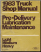 1983 Ford Light, Medium & Heavy Truck Pre-Delivery Lubrication & Maintenance Manual, Volume C (SKU: FPS36532683C)