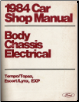 1984 Car Shop Manual - Body, Chassis, Electrical - Tempo, Topaz, Escort, Lynx, EXP (SKU: FPS36512684C)