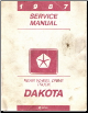 1987 Dodge Dakota Service Manual - Rear Wheel Drive (SKU: 813706010)