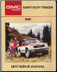 1987 GMC Light Duty Truck Unit Repair Manual (SKU: X8737)