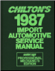 1980 - 1987 Chilton's Import Auto Service Manual, Shop Edition (SKU: 0801977357)