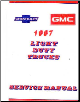 1987 Chevrolet Truck Light Duty  Body, Chassis & Drivetrain with Wiring Shop Manual (SKU: BISH-259)