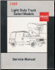 1989 GMC Light Duty Truck Safari Models Service Manual (SKU: X8930)