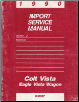 1990 Dodge Colt Vista/Eagle Vista Wagon Import Service Manual (SKU: 812700113-0114)