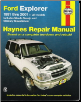 1991 - 2001 Ford Explorer, Mazda Navajo & Mercury Mountaineer, Haynes Repair Manual (SKU: 1563925915)