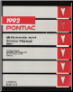 1992 Pontiac Grand Am Factory Service Manual - 3 Volume Set (SKU: S9210N-1-2-3)