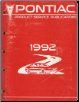1992 Pontiac Dealer Service Bulletins & Dealer Product Campaign Bulletins Manual- All Models (SKU: S92PSP4)