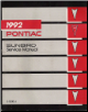 1992 Pontiac Sunbird Factory Service Manual (SKU: S9210J)