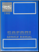 1992 GMC Safari Service Manual (SKU: X9230)