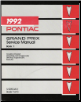 1992 Pontiac Grand Prix Service Manual - Volume 1, 2 & 3 (SKU: S9210W-1-2-3)