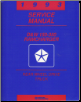 1993 Dodge RamCharger D&W 150-350 Rear Wheel Drive Truck Service Manual (SKU: 813703108)