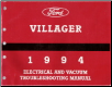 1994 Mercury Villager Electrical and Vacuum Troubleshooting Manual (SKU: FCS1222094)