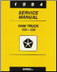 1994 Dodge Ram 1500-3500 Rear Wheel Drive Truck Service Manual (SKU: 813704108)