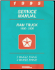 1995 Dodge Ram 1500-3500 Rear Wheel Drive Truck Service Manual (SKU: 813705108)