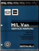 1996 Chevrolet/GMC M/L Vans: Astro & Safari Factory Service Manual - Volume 1 (SKU: GMT96ML1)