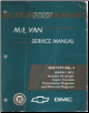 1997 Chevrolet/GMC M/L Vans: Astro & Safari Factory Service Manual - 2 Volume Set (SKU:  GMT97ML-1-2)