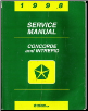 1998 Chrysler Concorde, Dodge Intrepid Service Manual (SKU: 812708140)