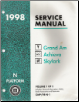 1998 Pontiac Grand Am, Oldsmobile Achieva & Buick Skylark (N Platform) Service Manual - 3 Volume Set (SKU: GMP98N-1-2-3)