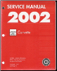 2002 Chevrolet Corvette Service Manual - 3 Volume Set (SKU: GMP02Y1-2-3)