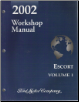 2002 Ford Escort Workshop Manual- 2 Volume Set (SKU: FCS12082021-2)