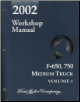 2002 Ford F-650 & F-750 Medium Duty Truck Workshop Manual - 2 Volume Set (SKU: FCS12864021-2)