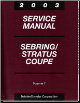 2003 Chrysler Sebring & Dodge Stratus Coupe Factory Service Manual - 4 Volume Set (SKU: 8127003031A-B-C-D)