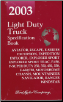 2003 Ford Light Duty Trucks - Specificaiton Book (SKU: FCS1213703)