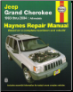 1993 - 2004 Jeep Grand Cherokee, Haynes Repair Manual (SKU: 1563925540)